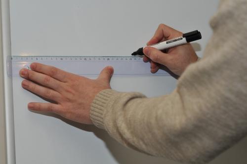 Marking at 25cm